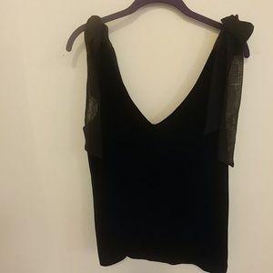 Gibson × Glam black velvet top
